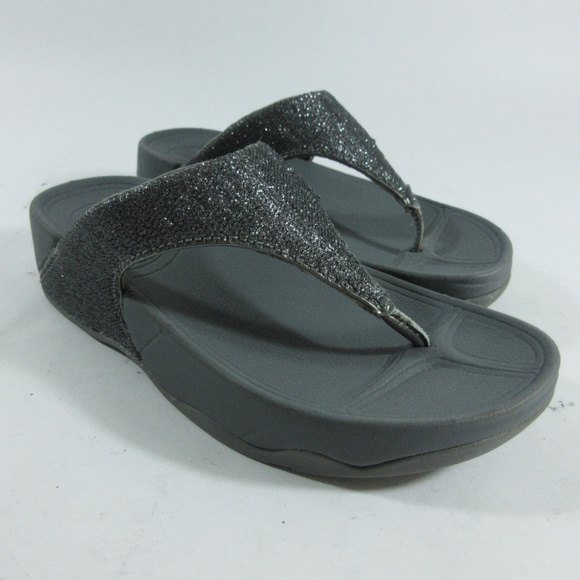 3cb9d116106 Fitflop Shoes - Fitflop Astrid Pewter Sparkle Sandals Flip Flops